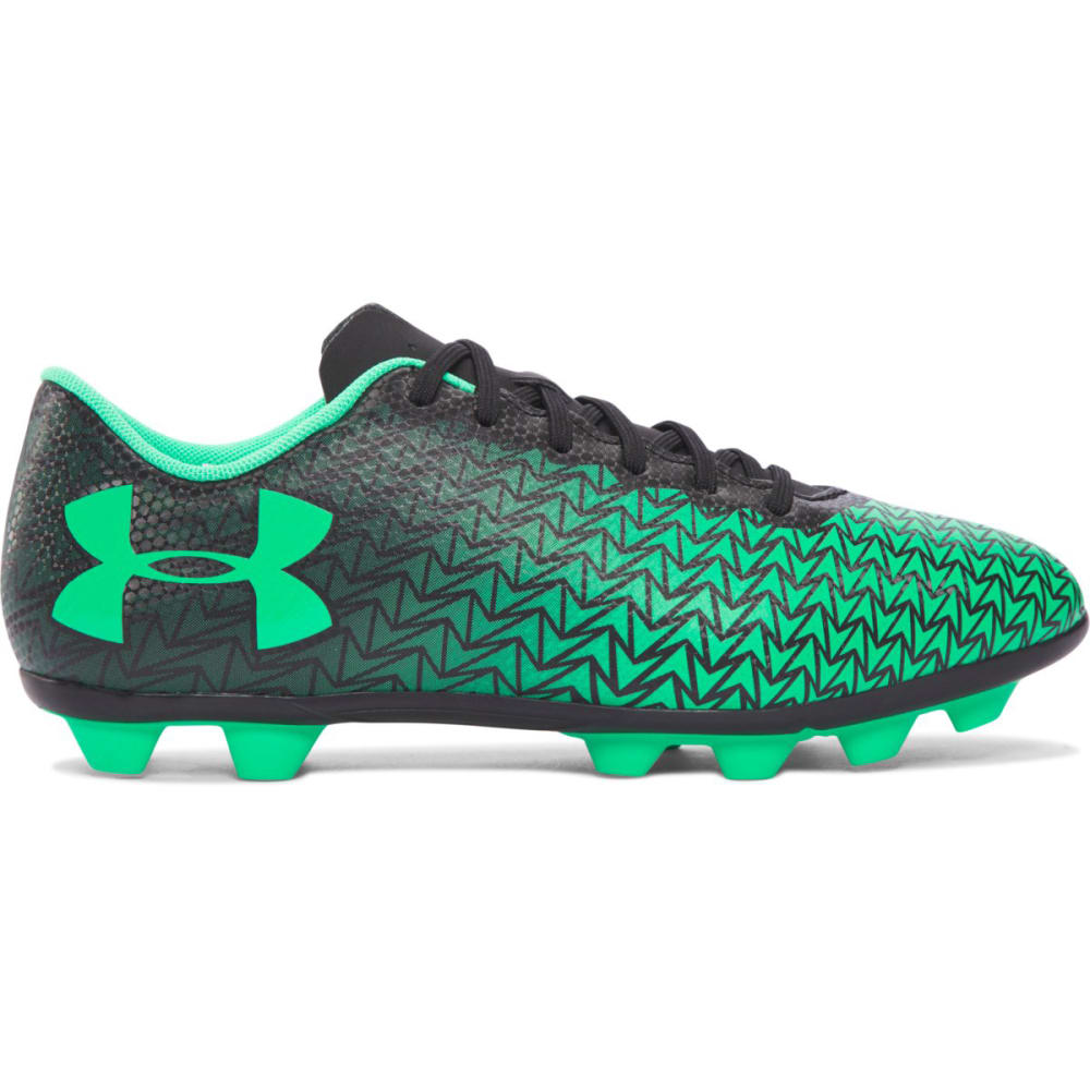 UNDER ARMOUR Boys' CF Force 3.0 FG Rubber Molded Jr. Soccer Cleats - BLACK