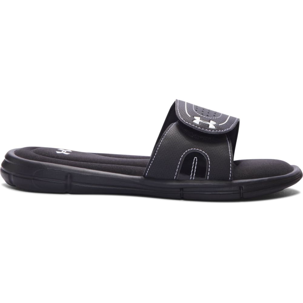 UNDER ARMOUR Girls' UA Ignite VII Slides - BLACK-001