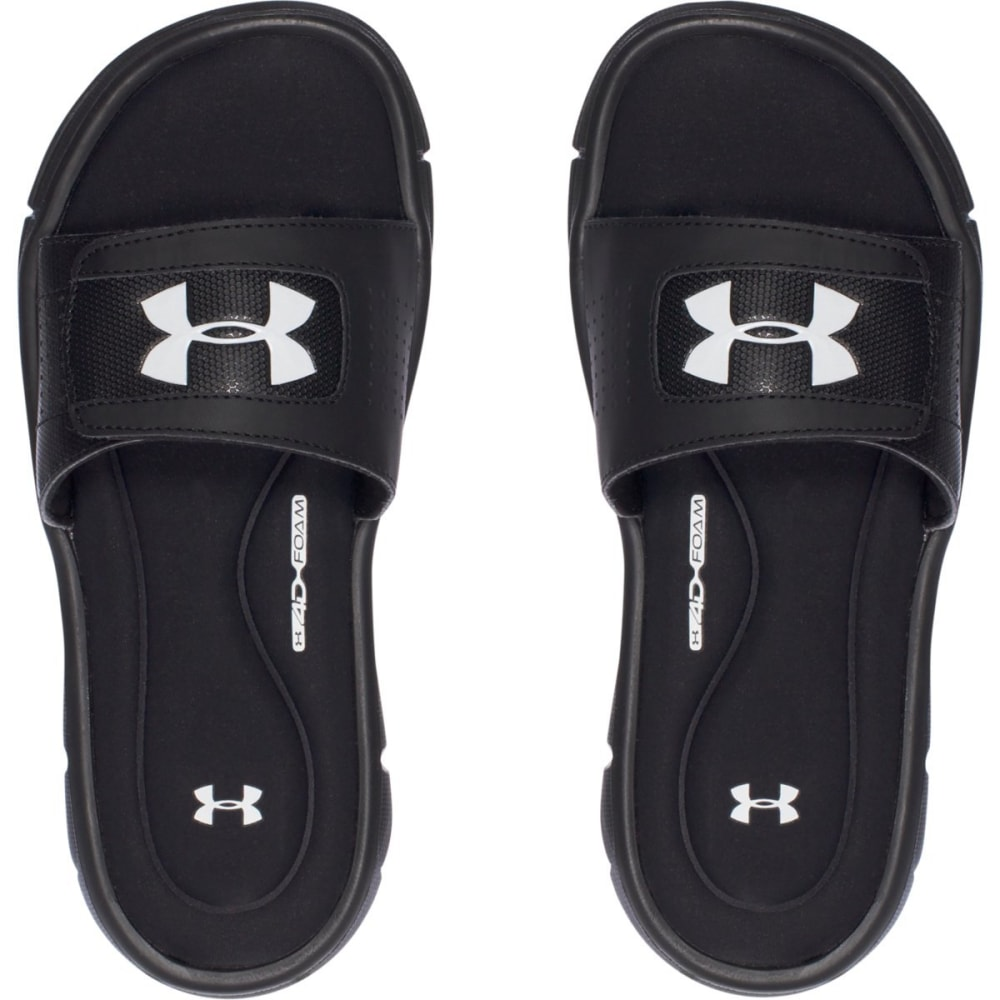 UNDER ARMOUR Boys' UA Ignite V Slides - BLACK-001