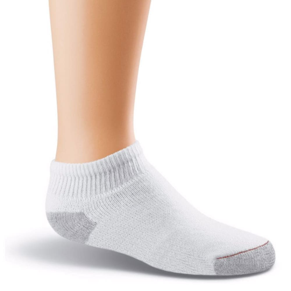 HANES Boys' Low Cut Socks, 10 Pack - WHITE