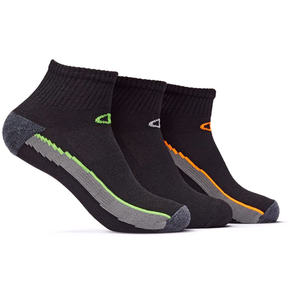 CHAMPION Men's Performance Ankle Socks, 3 Pack - BLACK