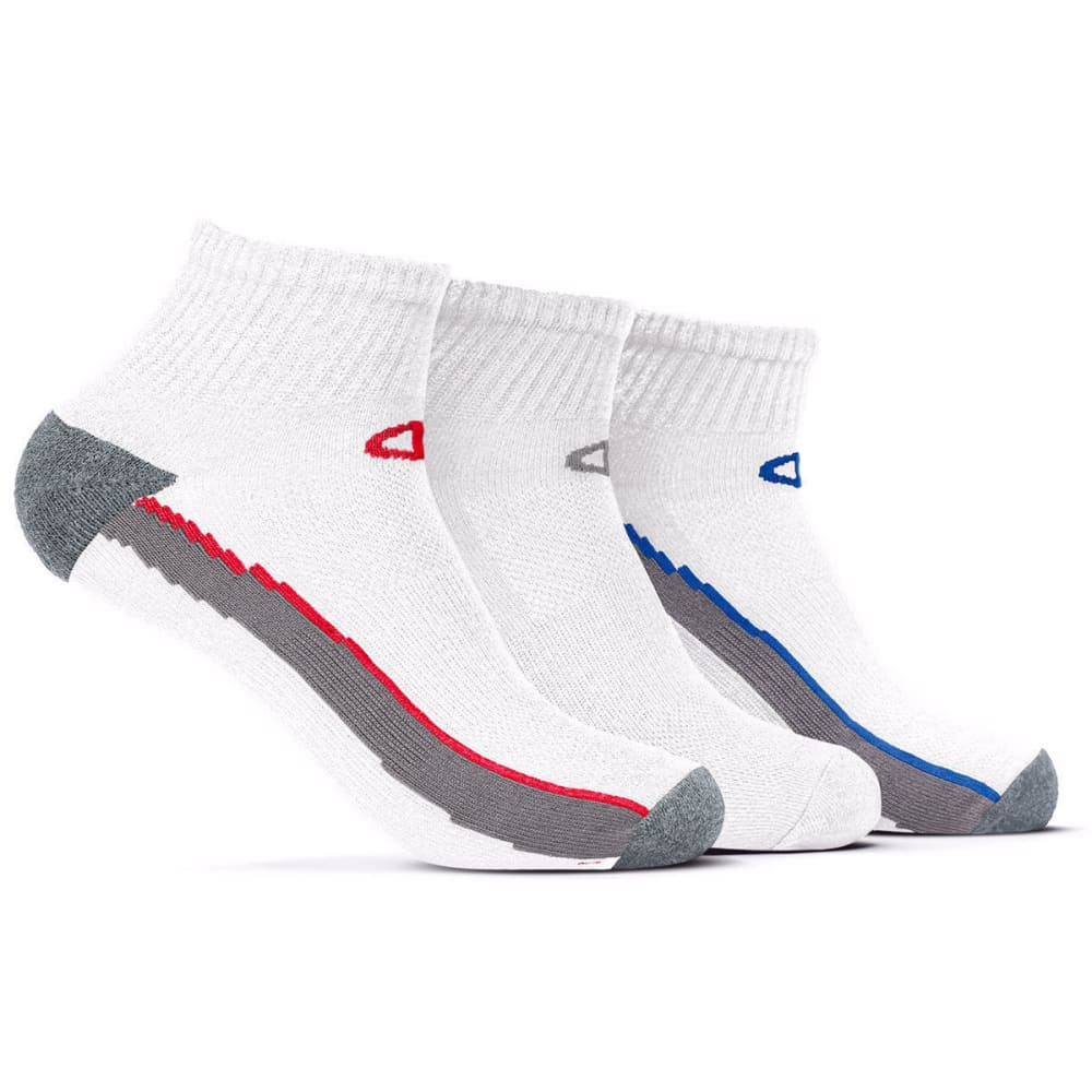 CHAMPION Men's Performance Ankle Socks, 3 Pack - WHITE