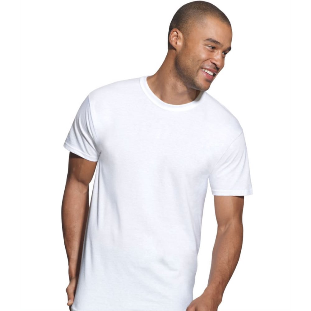HANES Men's Ultimate X-Temp Active Cool Crewneck Undershirts, 3 Pack - WHITE