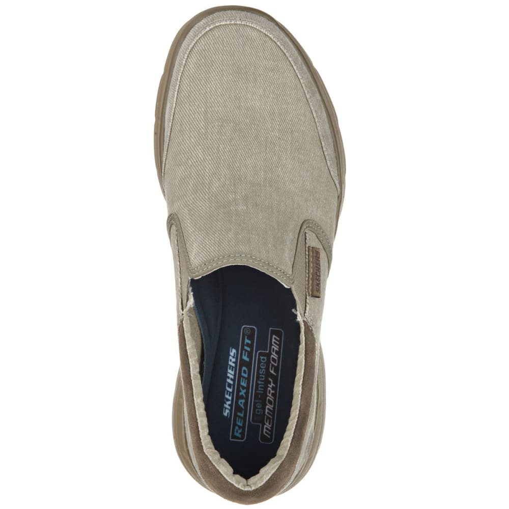 SKECHERS Men's Relaxed Fit: Glides  -  Adamant Shoes - TAUPE