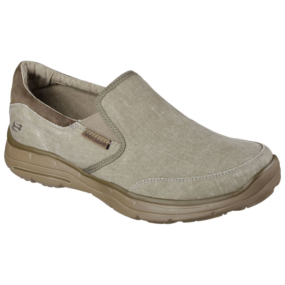 Skechers Men's Relaxed Fit: Glides  -  Adamant Shoes - Brown, 9