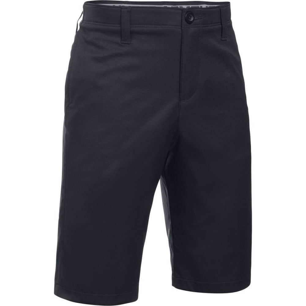 UNDER ARMOUR Boys' Match Play Golf Shorts - 001-BLACK