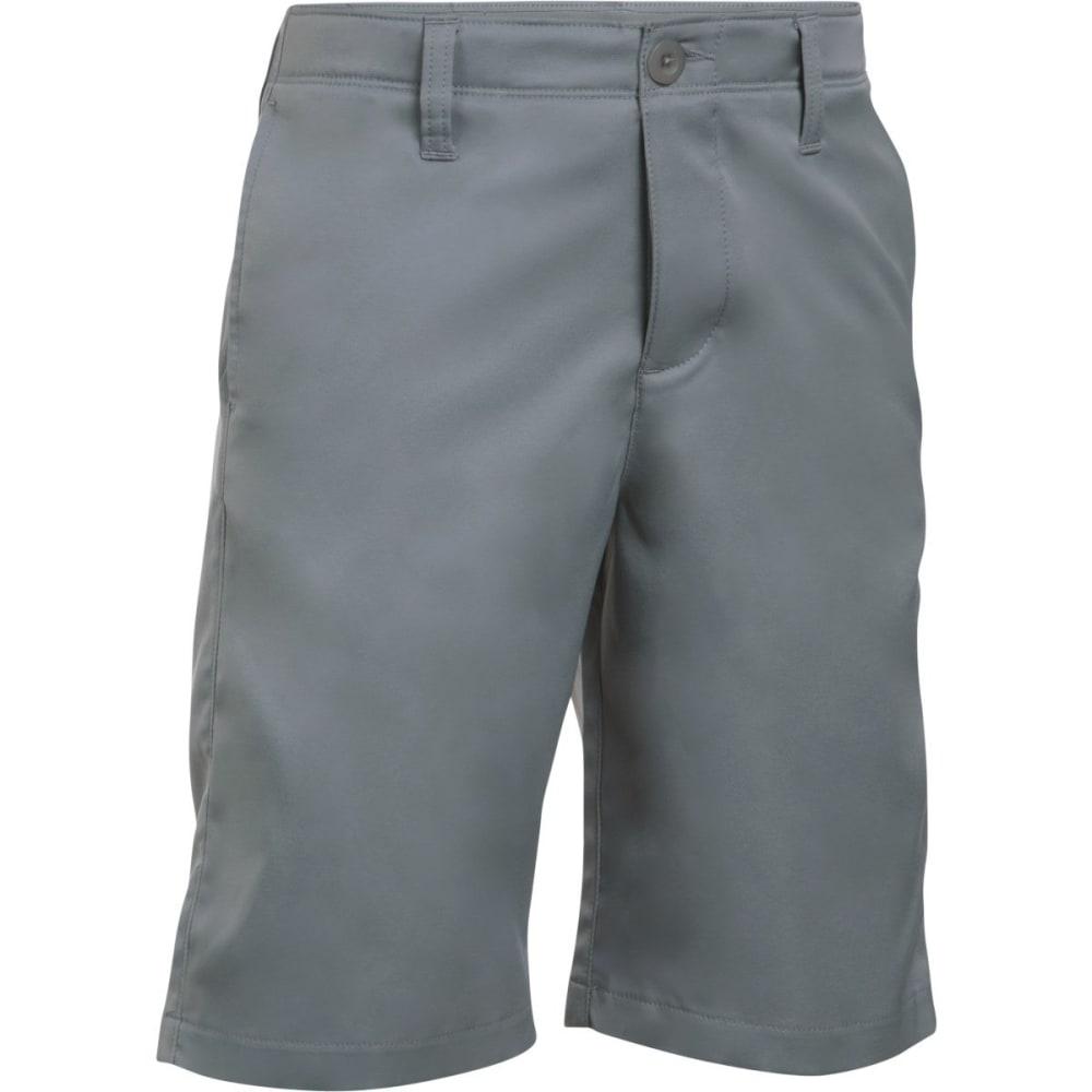 UNDER ARMOUR Boys' Match Play Golf Shorts - 035- STEEL