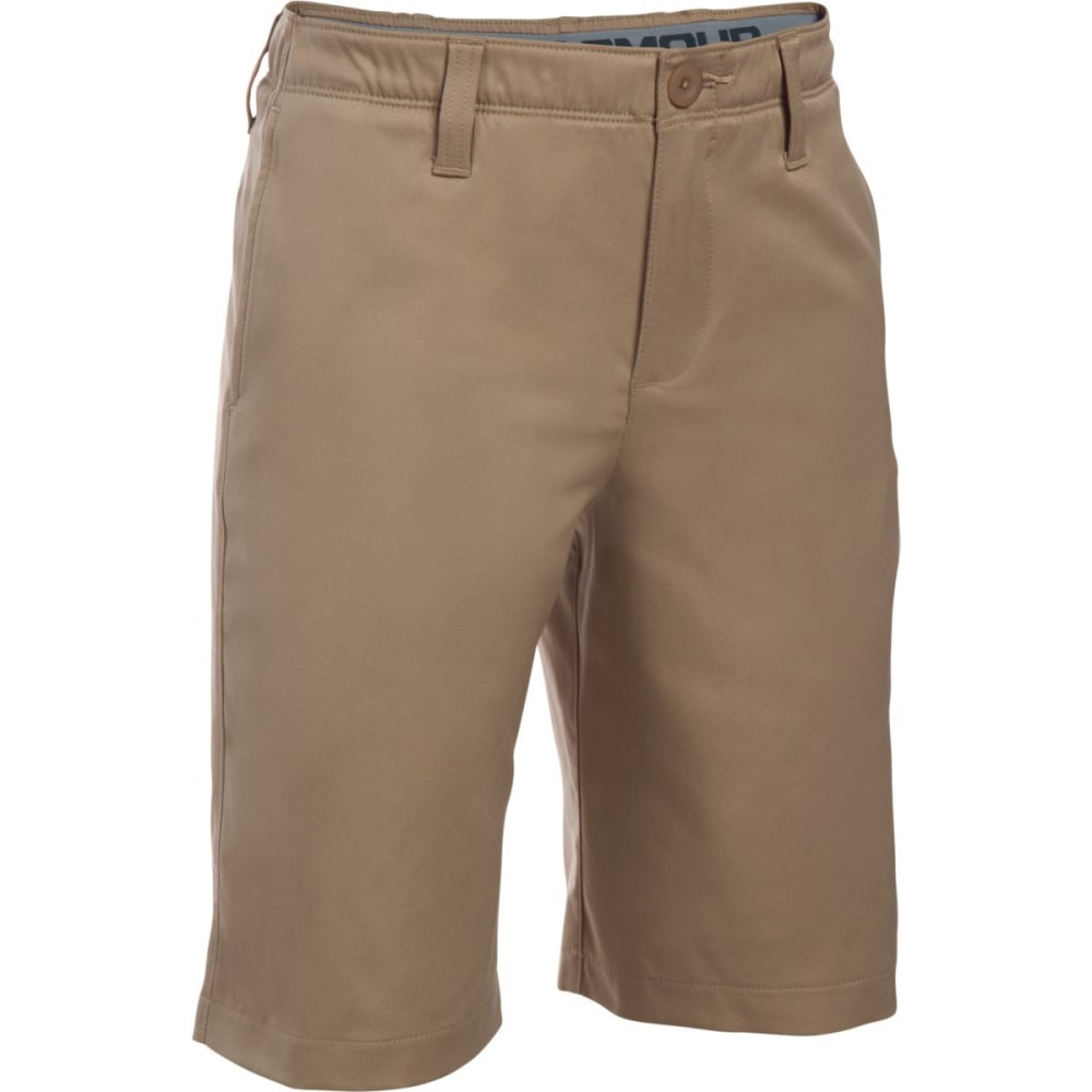 UNDER ARMOUR Boys' Match Play Golf Shorts - 254-CANVAS