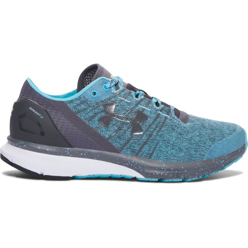 UNDER ARMOUR Women's Charged Bandit 2 Running Shoes, Blue/Grey - VENETIAN BLUE/GRAY