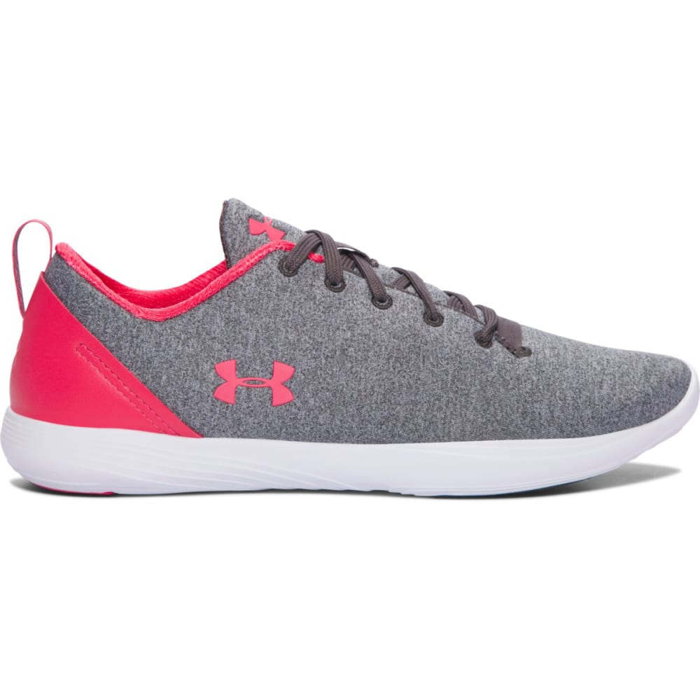 UNDER ARMOUR Women's UA Street Precision Sport Low Running Shoes, Charcoal/White - CHAR/WHT/GAL