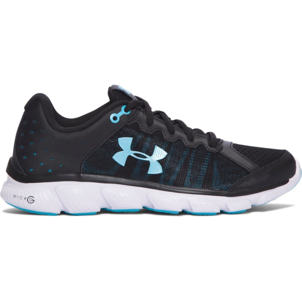 UNDER ARMOUR Women's Micro G Assert 6 Running Shoes - BLK/VEN. BLUE