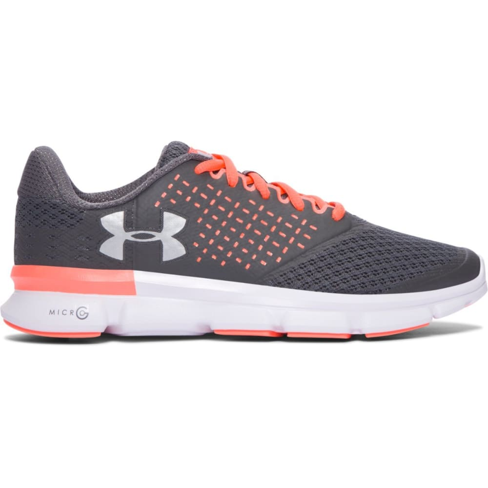 UNDER ARMOUR Women's Micro G Speed Swift 2 Running Shoes - RHINO GRAY/LNDN ORNG