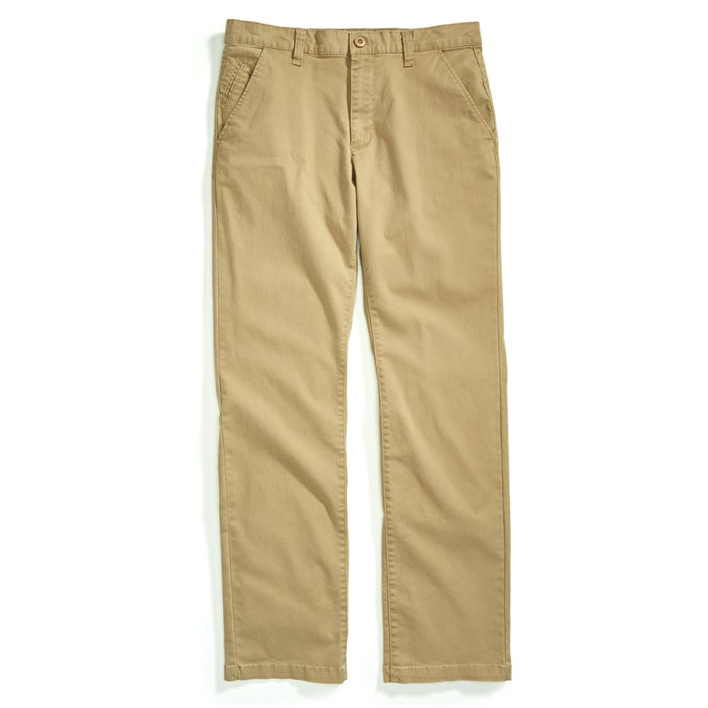 Crossfire Guys Straight Fit Chinos - Brown, 28/30