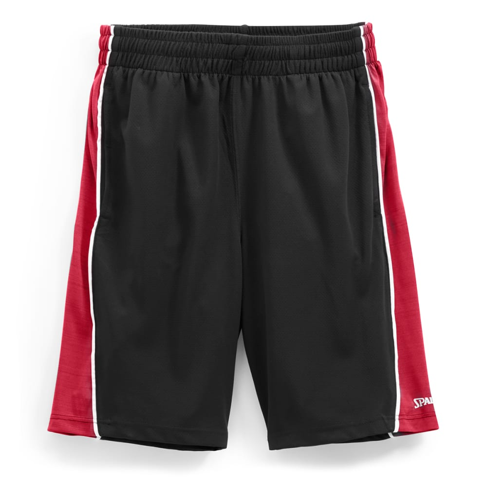 SPALDING Men's Dimpled Mesh Heather Basketball Shorts - S917096-011