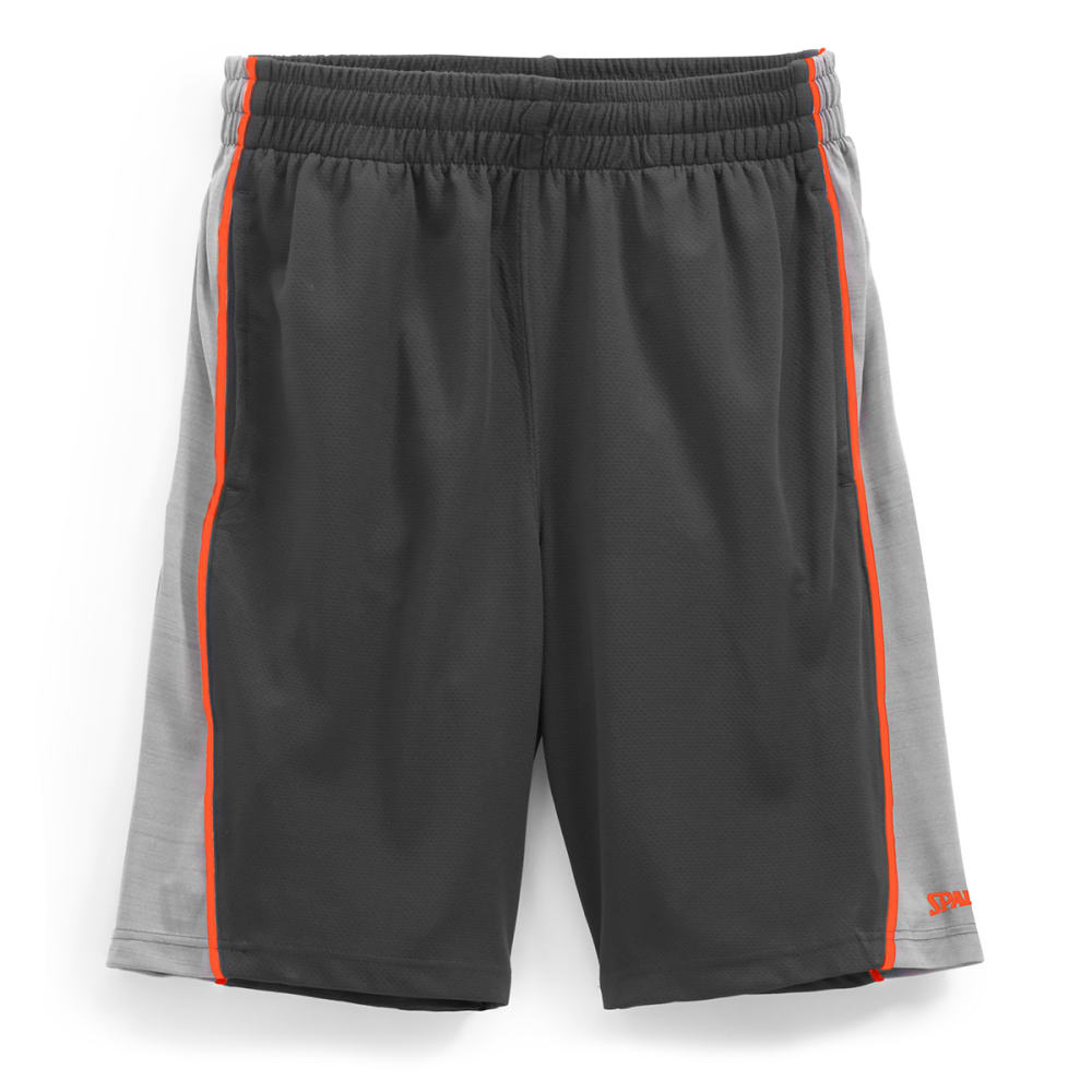 SPALDING Men's Dimpled Mesh Heather Basketball Shorts - S917096-234