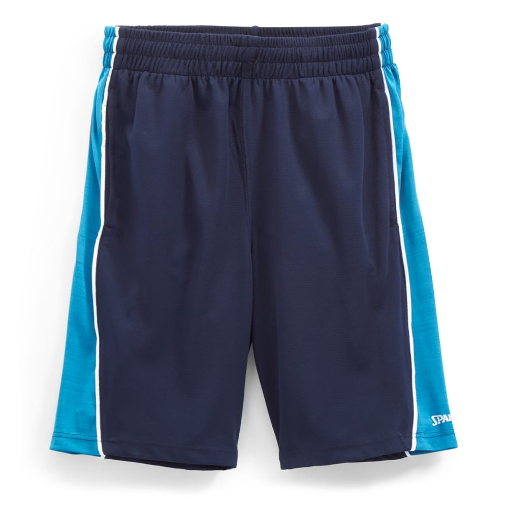 SPALDING Men's Dimpled Mesh Heather Basketball Shorts - S917096-471