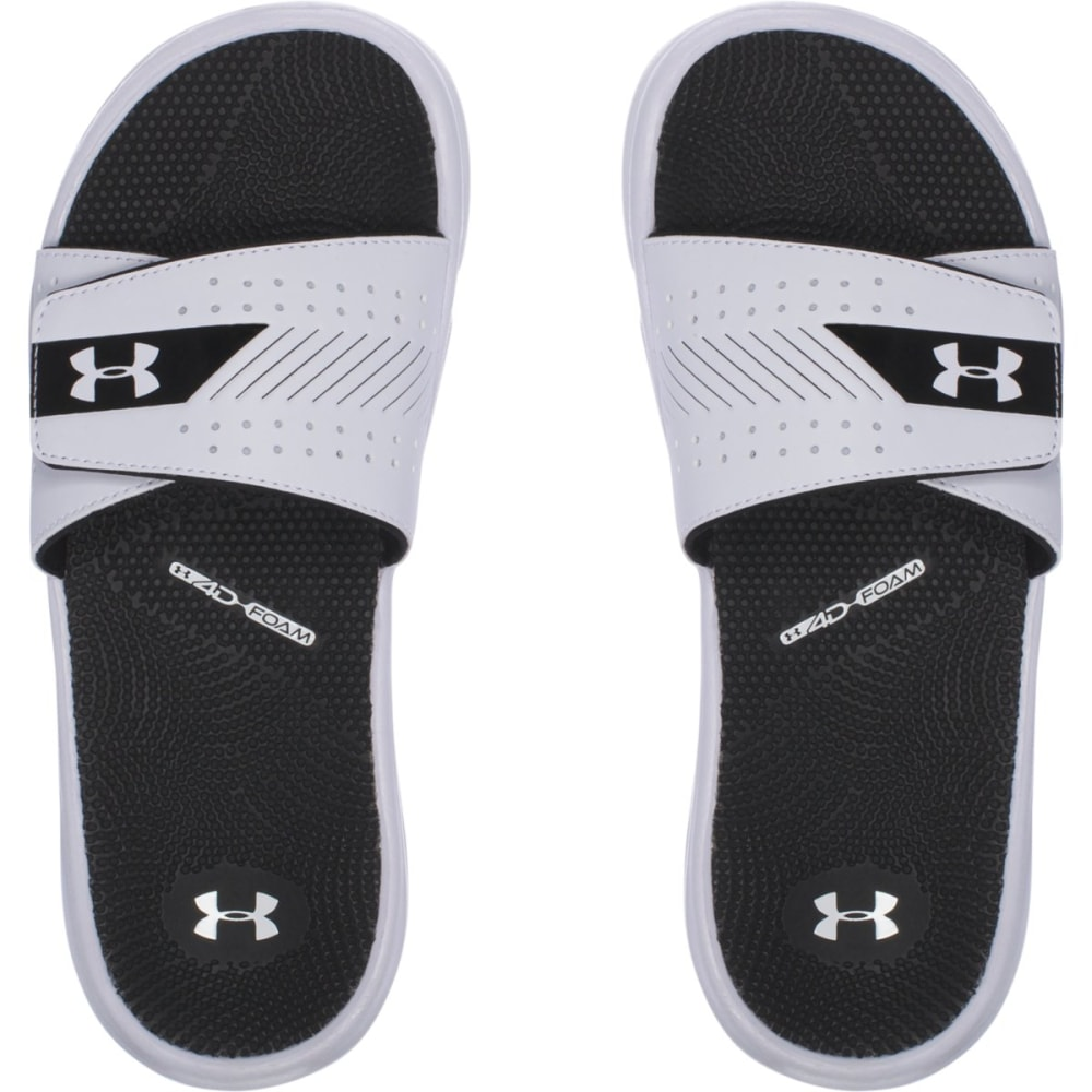 UNDER ARMOUR Women's UA Micro G EV III Slides, White/Black - WHITE/BLACK