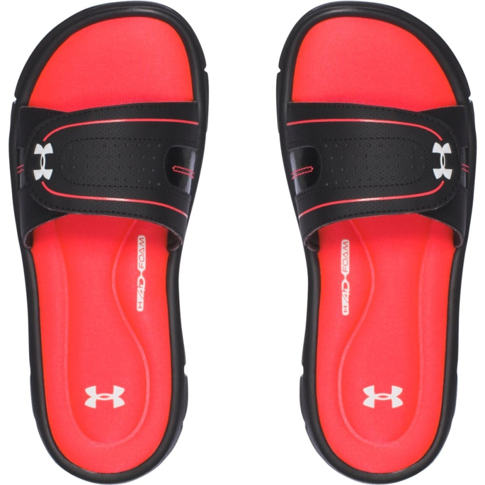 UNDER ARMOUR Women's UA Ignite VII Slides - BLACK/SIRENS CORAL