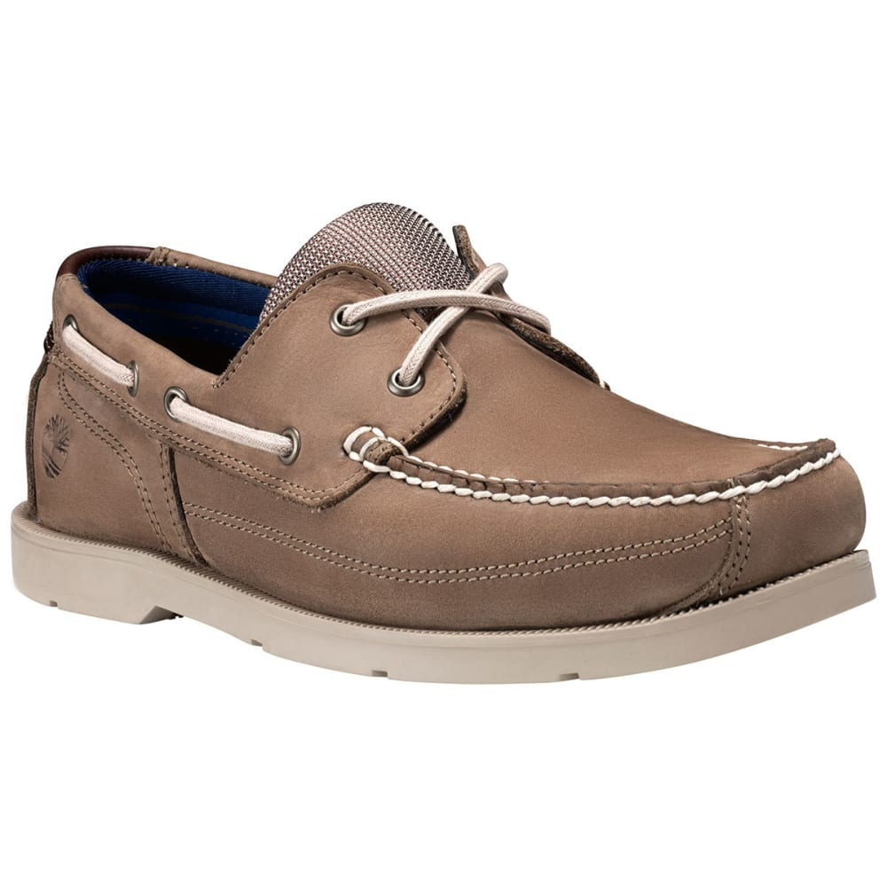TIMBERLAND Men's Piper Cove Boat Shoes, Light Brown, Wide 7.5