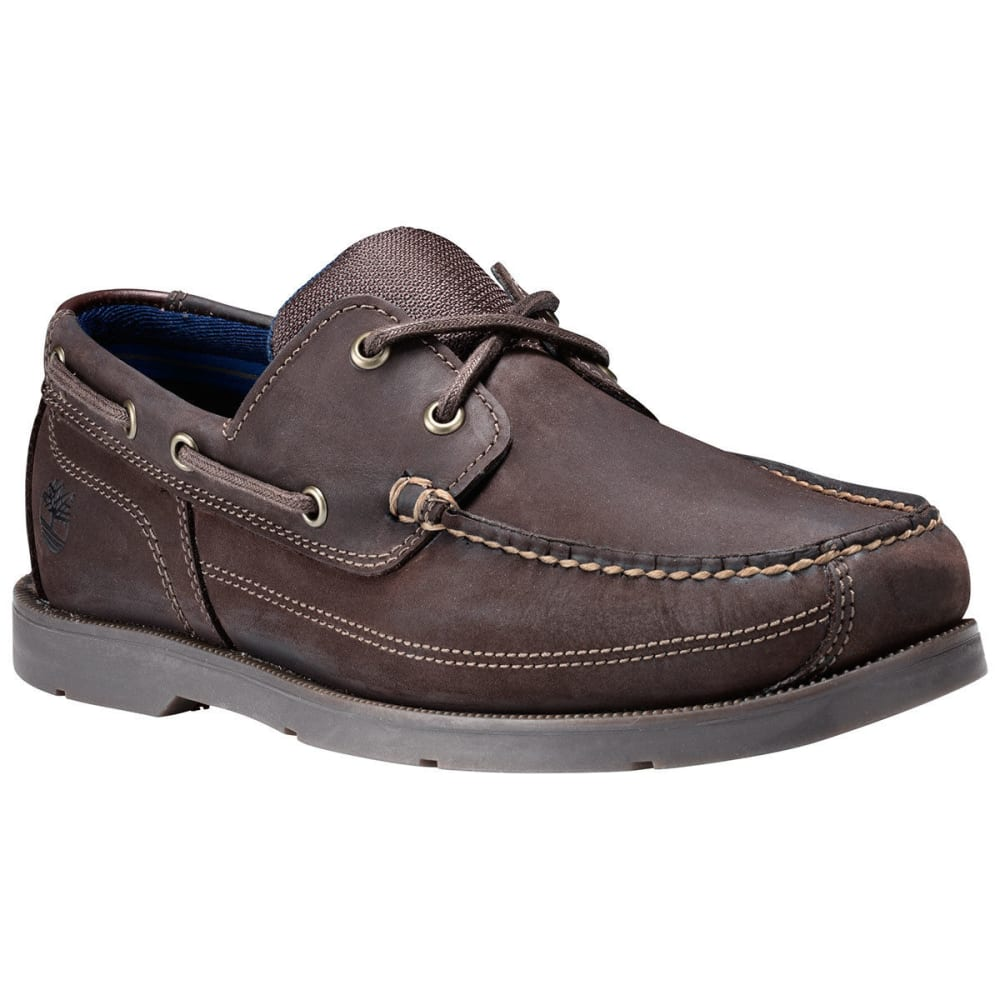 TIMBERLAND Men's Piper Cove Boat Shoes, Dark Brown, Wide - DARK BROWN