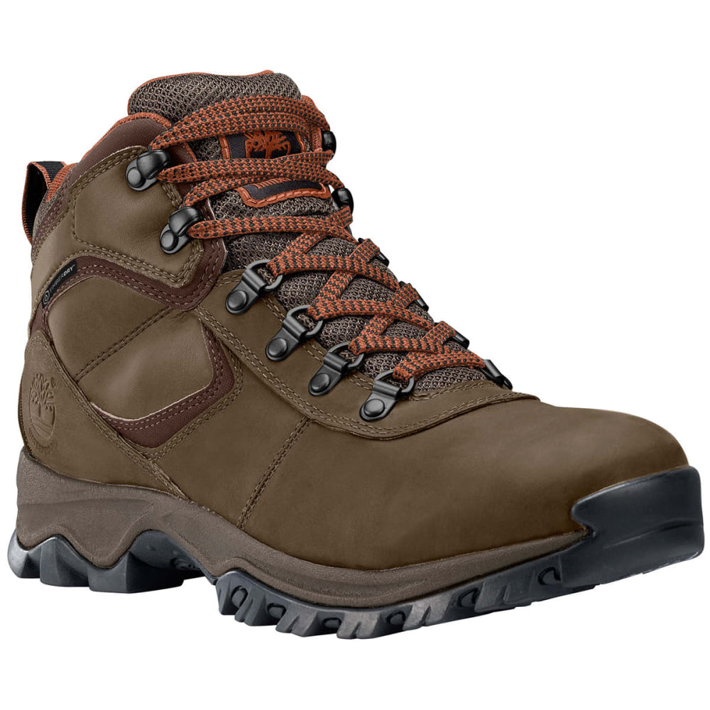 TIMBERLAND Men's Mt. Maddsen Mid Waterproof Hiking Boots, Medium Brown, Wide - BROWN