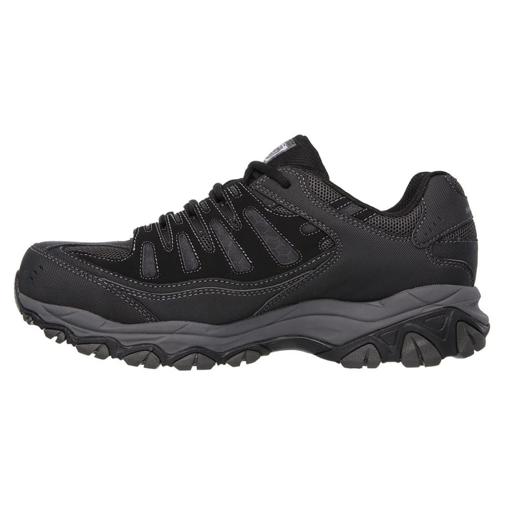 SKECHERS Men's Work Relaxed Fit: Crankton Steel Toe Work Shoes - BLACK