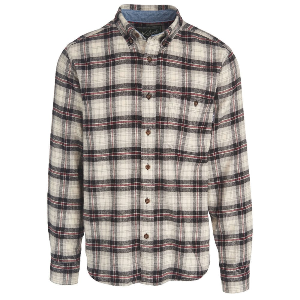WOOLRICH Men's Trout Run Plaid Flannel Shirt - BPD-BLACK PLAID