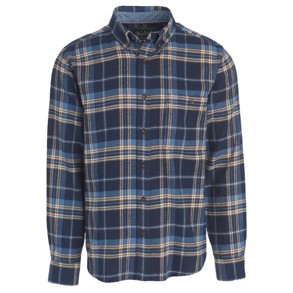 WOOLRICH Men's Trout Run Plaid Flannel Shirt - ETB-ESTATE BLUE