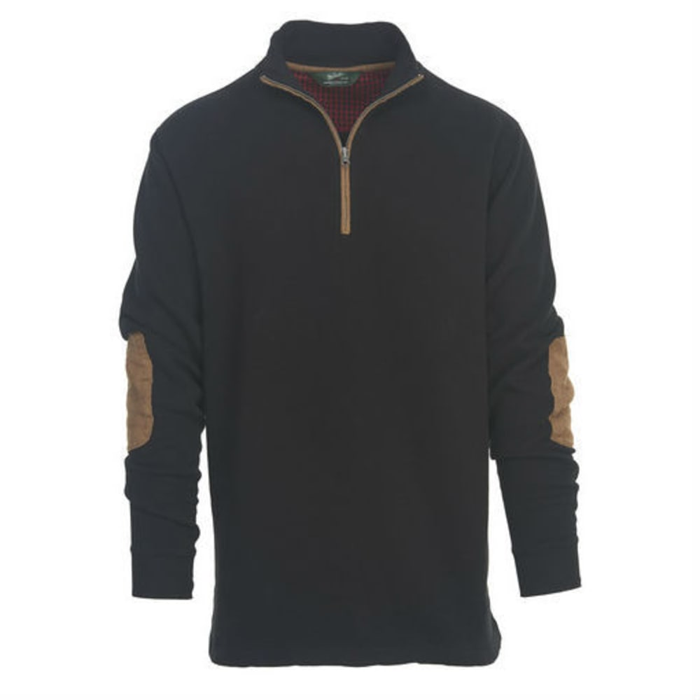 WOOLRICH Men's Boysen Half-Zip Sweater - BLK-BLACK