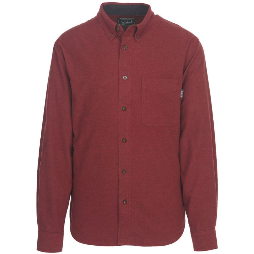 WOOLRICH Men's Sportsman Chamois Shirt - HDH-HUNT RED HTR