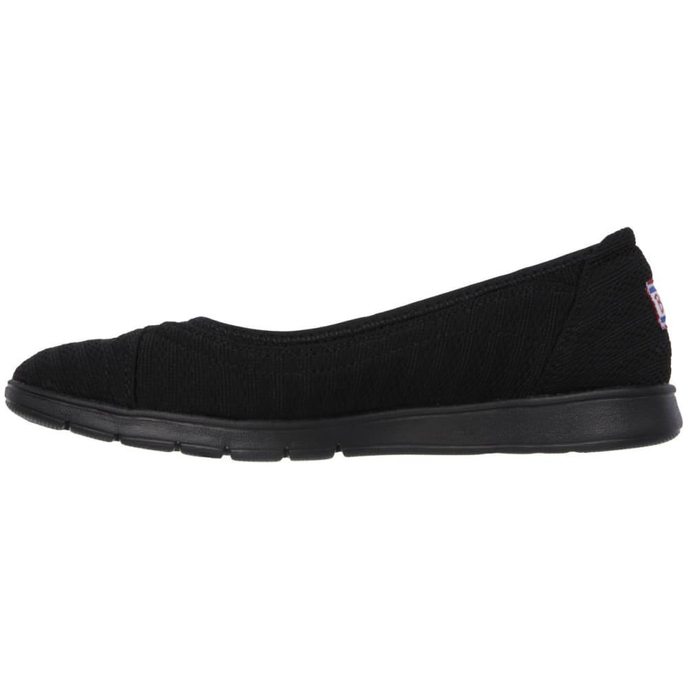 SKECHERS Women's Bobs Pureflex Supastar Flat Shoes - BLACK