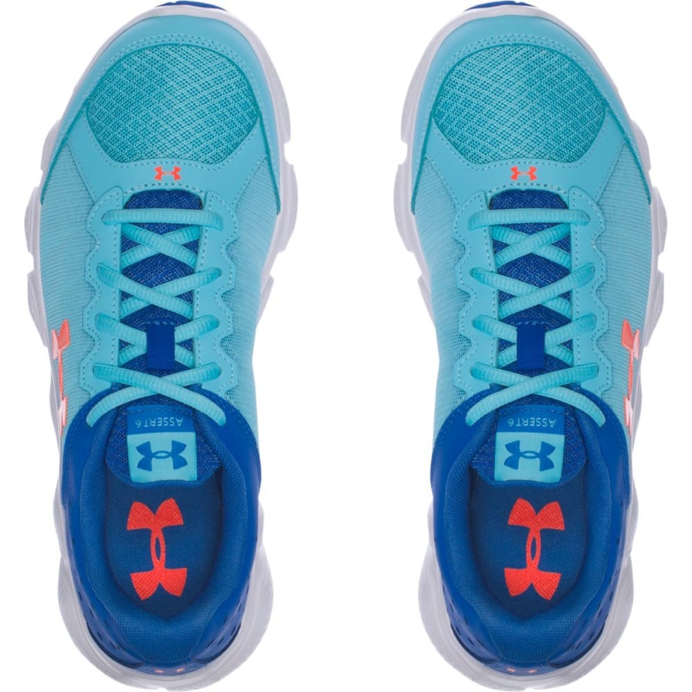 UNDER ARMOUR Girls' Grade School UA Micro G Assert 6 Running Shoes - VEN.BLUE/ORANGE