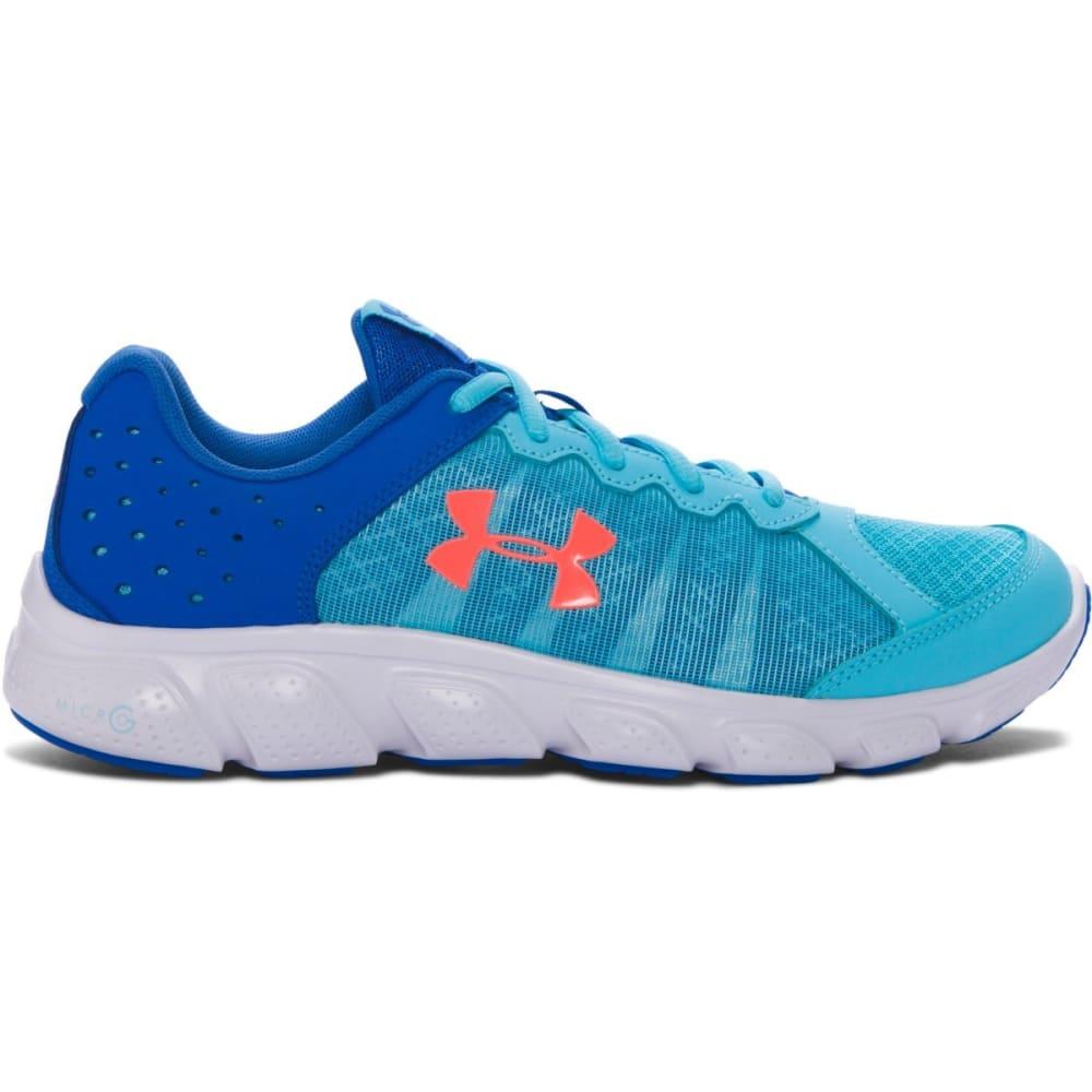 UNDER ARMOUR Girls' Grade School UA Micro G Assert 6 Running Shoes - VEN.BLUE/ORANGE