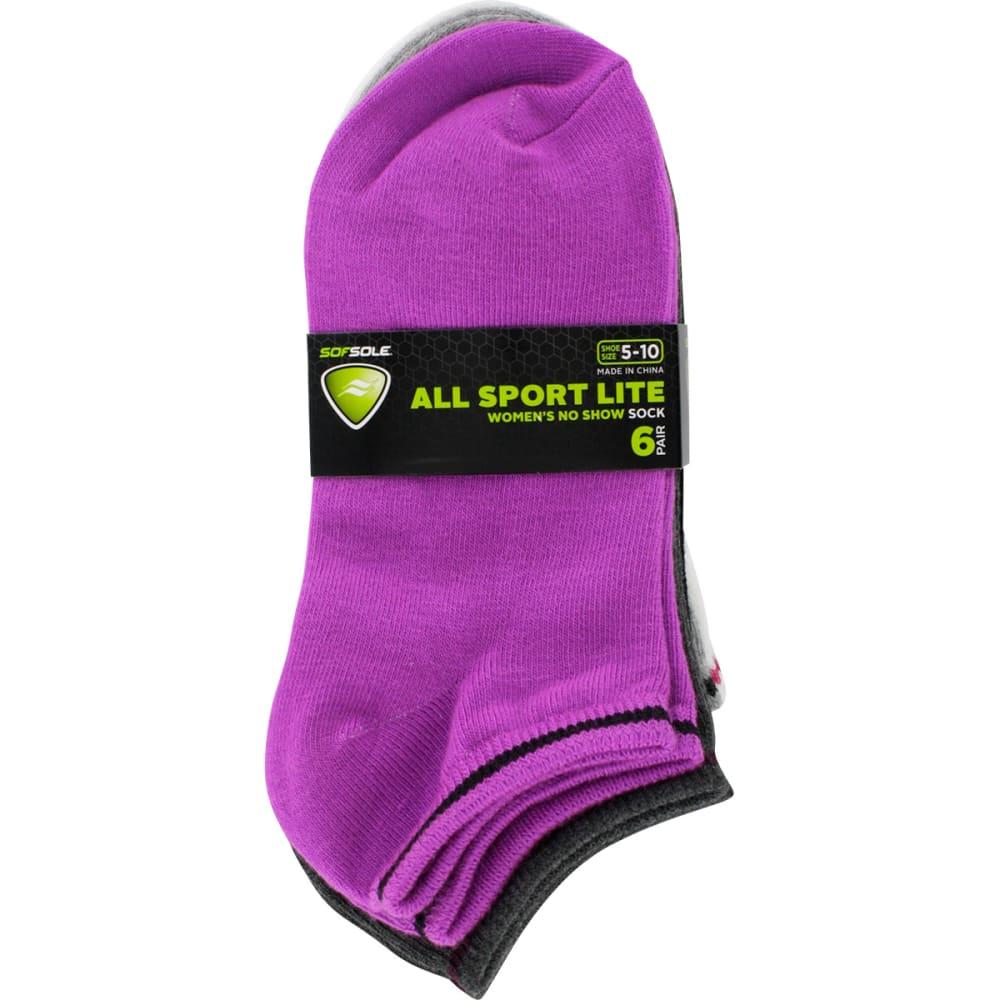 SOF SOLE Women's All-Sport Lite Fall Brights Socks, 6 Pack - STRIPES