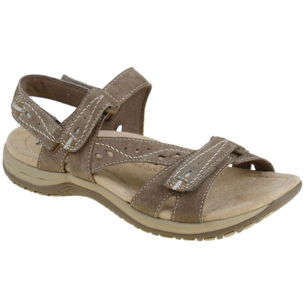 Earth Origins Women's Sophie Sandals, Wide - Brown, 7