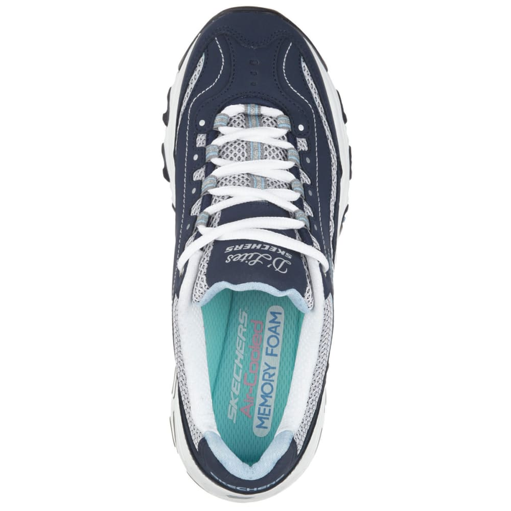 SKECHERS Women's D'lites - Life Saver Sneakers, Wide - NAVY