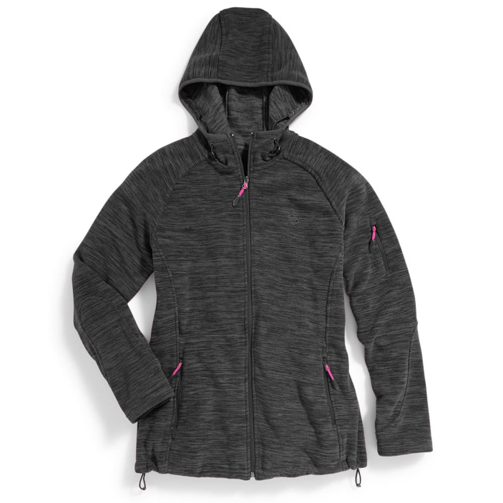 NEW BALANCE Women's Fleece Space-Dye Hoodie - CHARCOAL-PT150