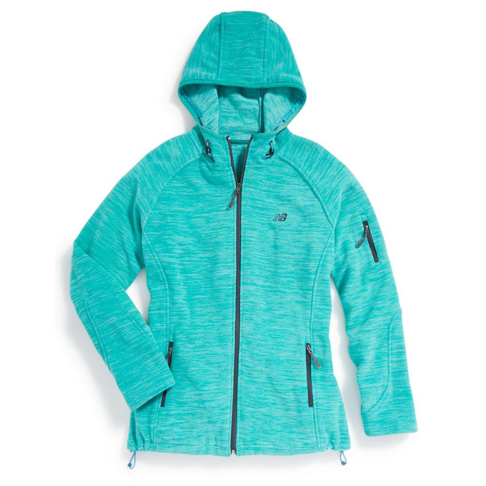 NEW BALANCE Women's Fleece Space-Dye Hoodie - SEA GLASS-PT149
