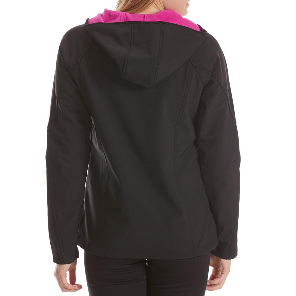 NEW BALANCE Women's Soft Shell Hoodie - BLACK/BERRY-BK001