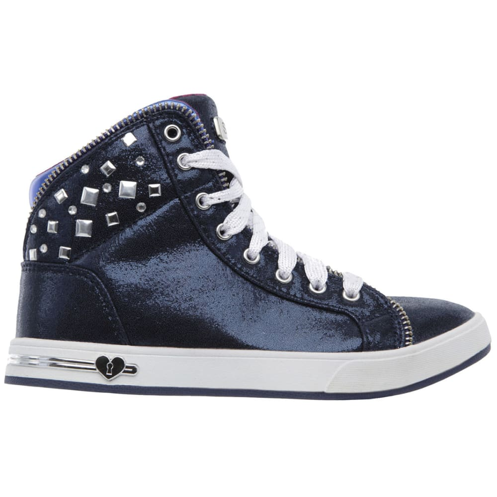SKECHERS Girls' Shoutouts – Zipsters Sneakers - NAVY