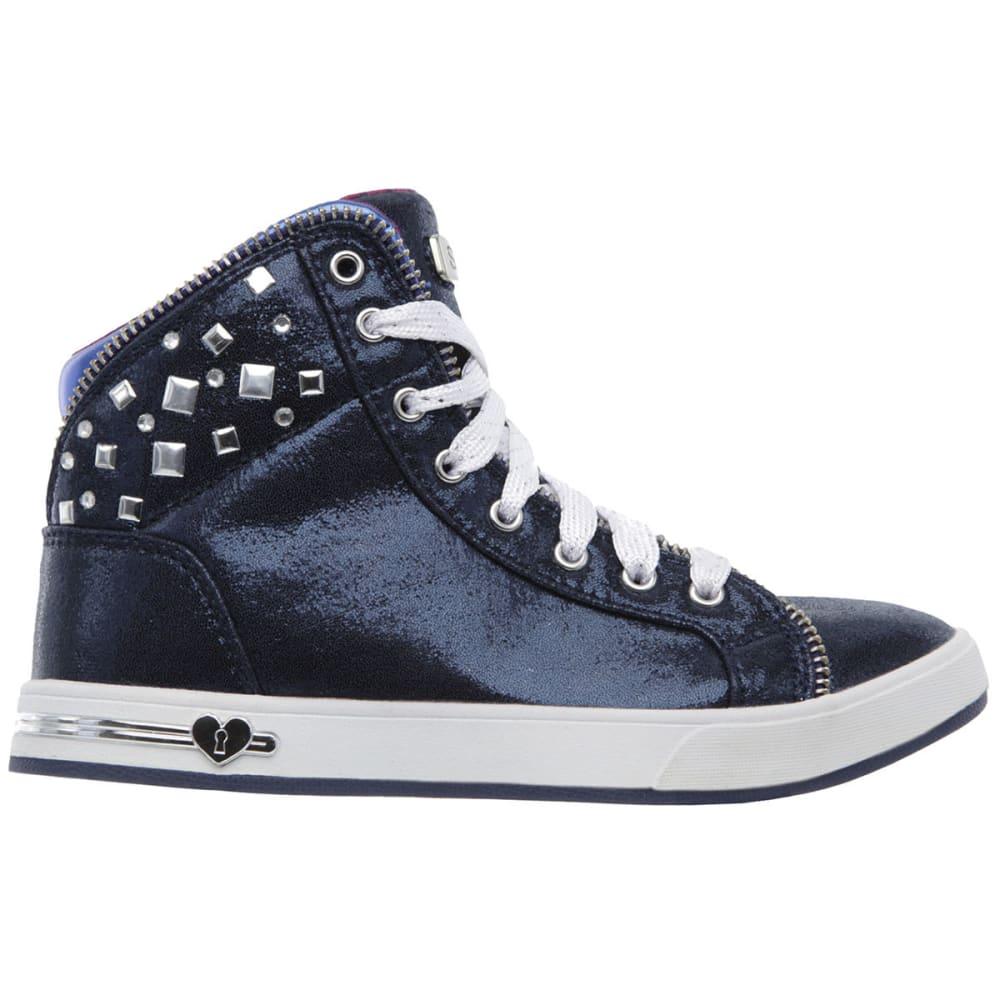 SKECHERS Girls' Shoutouts  Zipsters Sneakers - NAVY