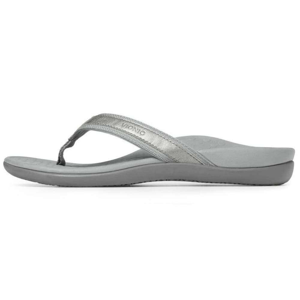 VIONIC Women's Tide II Toe Post Sandals - PEWTER