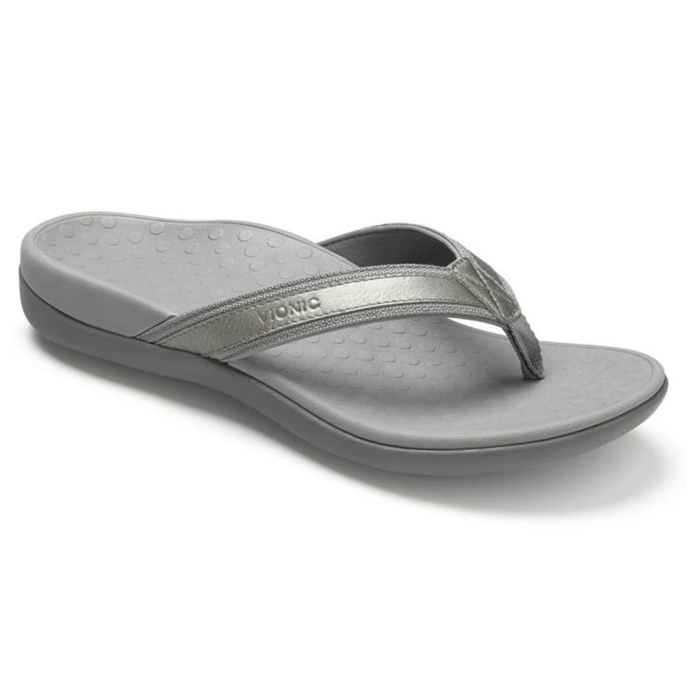 VIONIC Women's Tide II Toe Post Sandals - PEWTER
