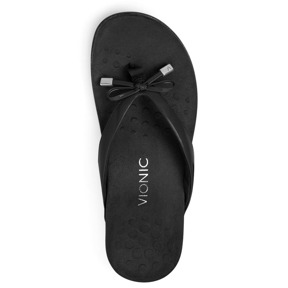 VIONIC Women's Bella Toe Post Sandal - BLACK