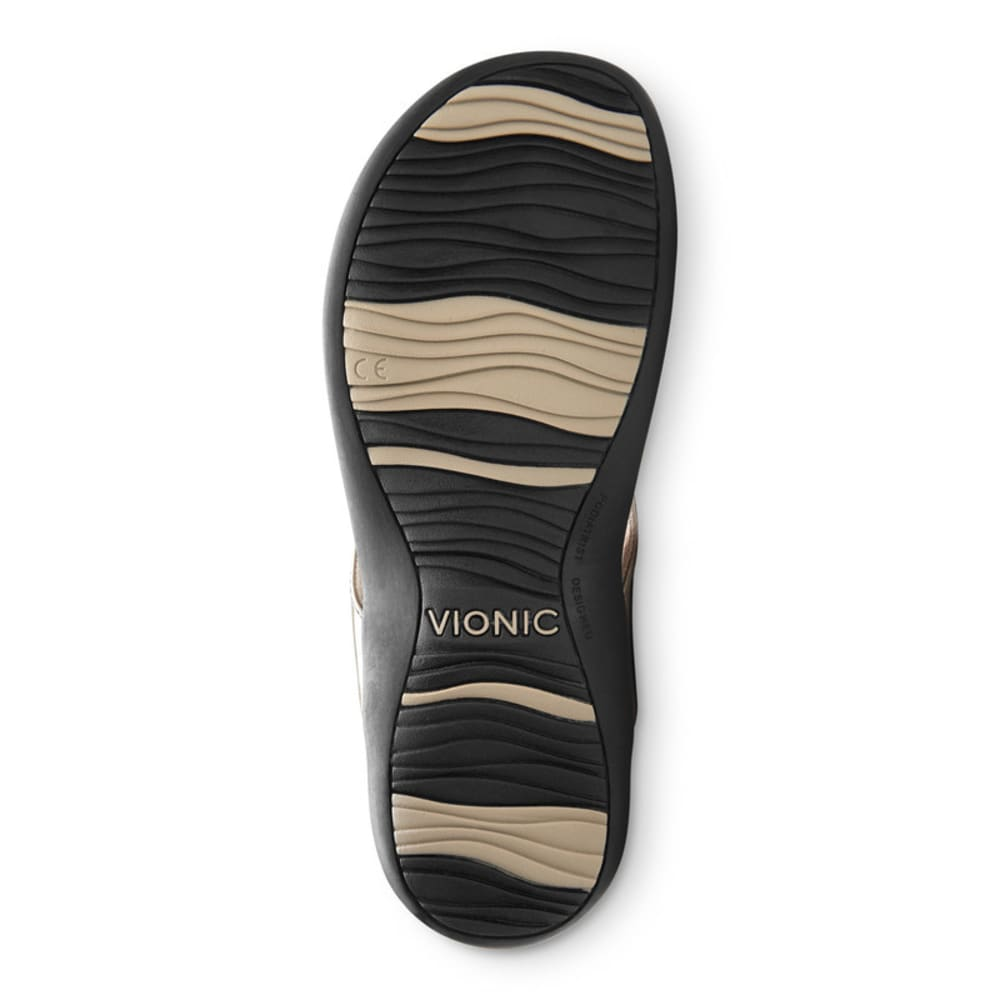 VIONIC Women's Bella Toe Post Sandal - PEWTER
