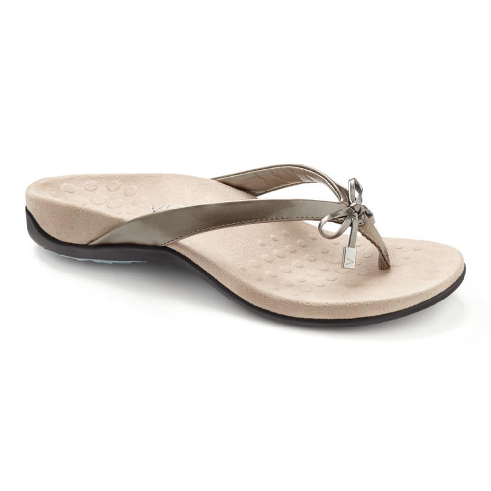 VIONIC Women's Bella Toe Post Sandal - PEWTER