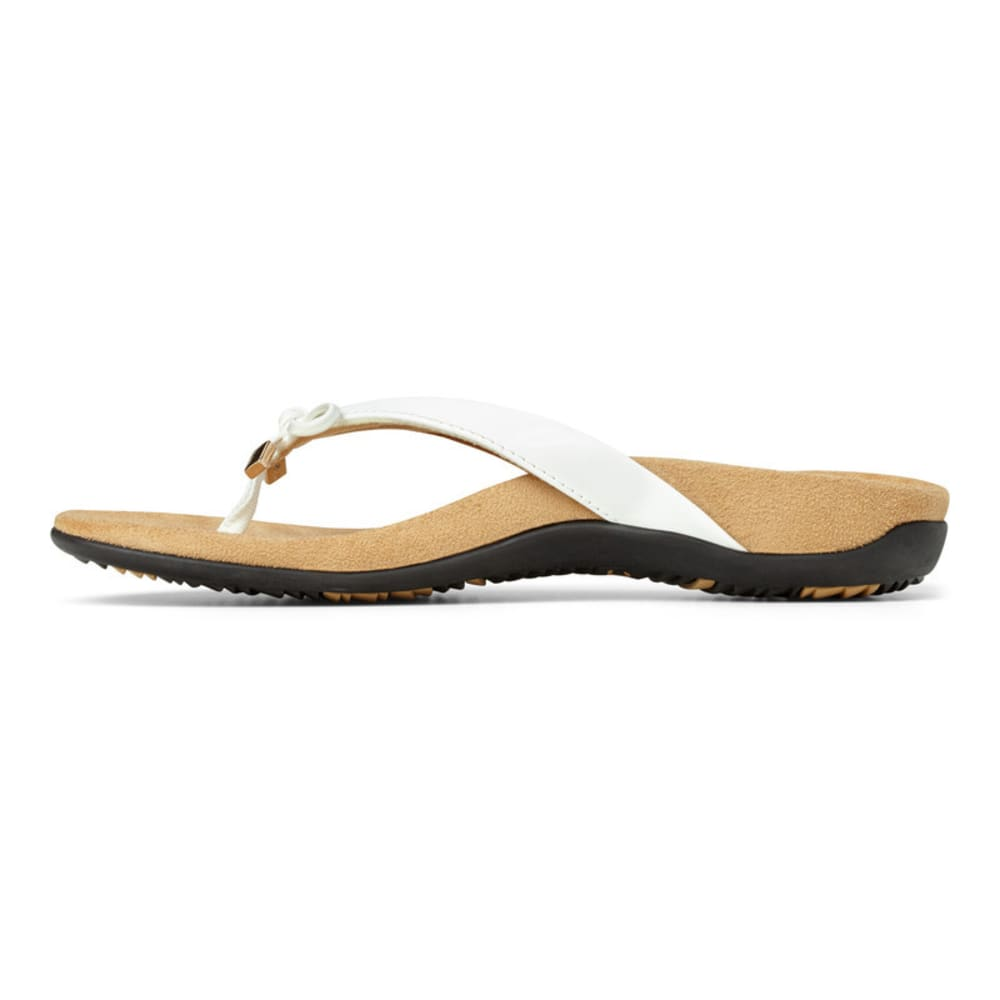 VIONIC Women's Bella Toe Post Sandal - WHITE