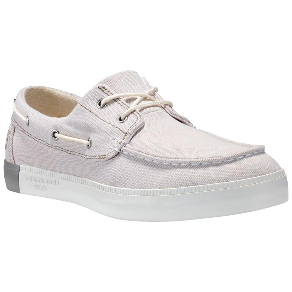 TIMBERLAND Men's Newport Bay 2-Eye Boat Shoes, White 7