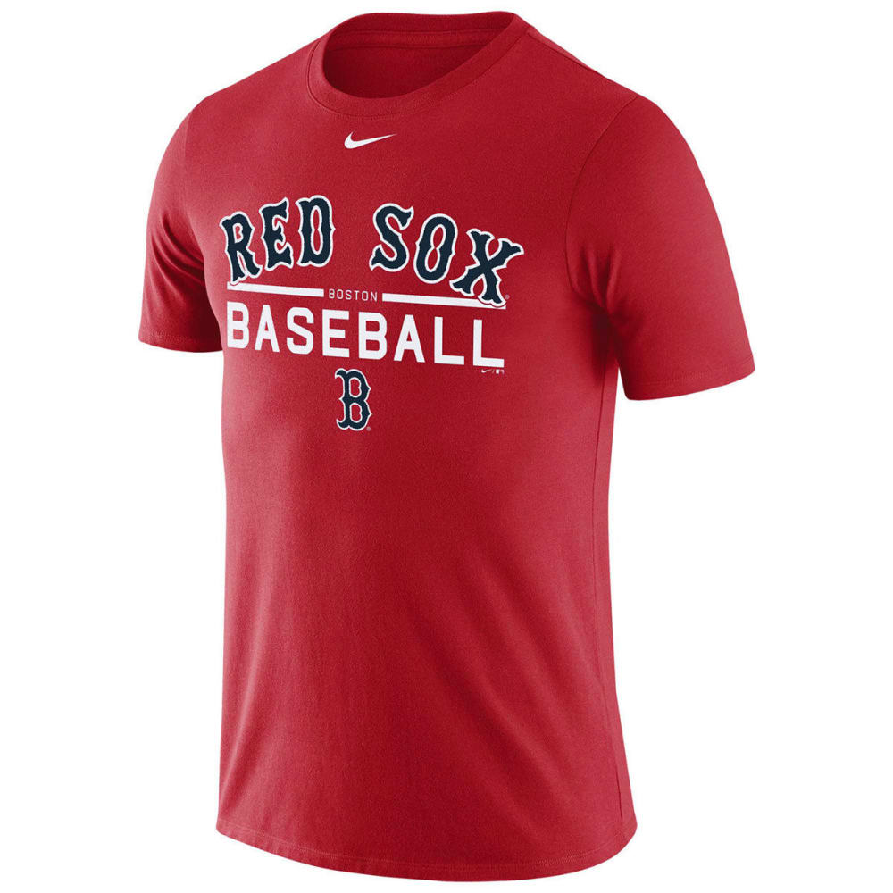 NIKE Men's New York Mets Practice Long-Sleeve Tee - RED