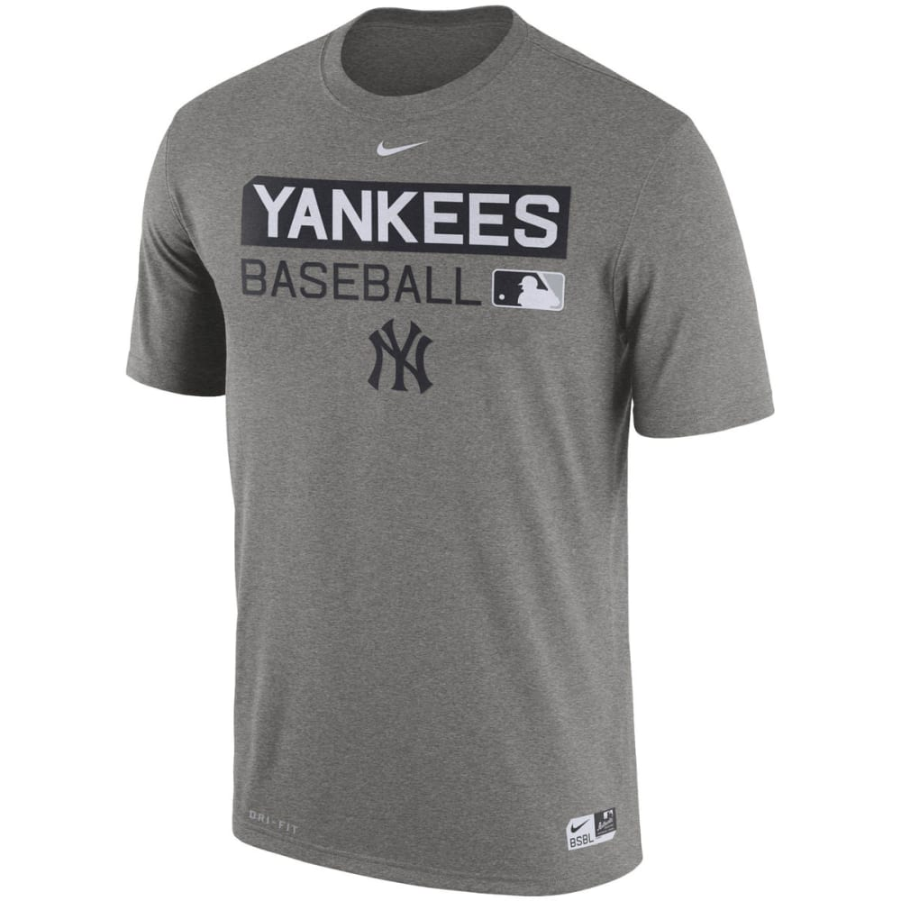 NIKE Men's New York Yankees Legend Short-Sleeve Tee - GREY